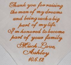 Absolutely love the message of this small gift to the mother of the groom