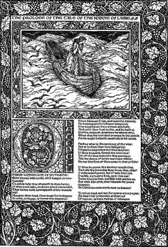 "Kelmscot, ""The Works of Geoffrey Chaucer.""   William Morris illustrations."