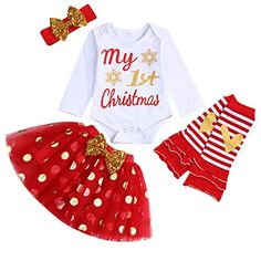 Amazon 10 Cute First Christmas Outfits for Newborn Baby Girls - Best Deals for Kids