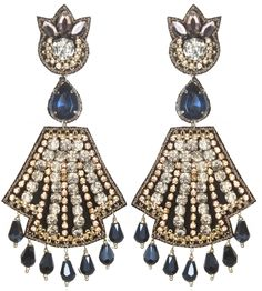 Suzanna Dai Weimar Large Drop Earrings. Via Diamonds in the Library.