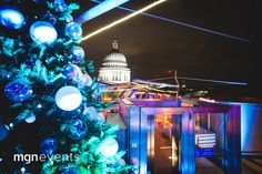 The Madison Restaurant London is such a pretty venue to host a Christmas party! We designed and created a Christmas wonderland for a corporate client. Overlooking the iconic dome of St Paul's Cathedral, the panoramic views of historic London from Europe's largest public roof terrace are simply breath-taking! #PartyByMGN ☎ 01932-223333  hello@mgnevents.co.uk