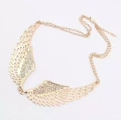 Online Cheap 2014 New Exclusive Brand Design Korean Fashion Elegant Charm Hollow Rhinestone Angel Wings Necklace Wholesale Hot Sales M13 By Blue2sky | Dhgate.Com