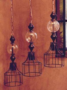 lampara de hierro oxido (colgante industrial cable textil) Ceiling Lights, Lighting, Pendant, Home Decor, House, Industrial Lighting, Hanging Lamps, Houses, Chandeliers