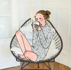 My little app French Illustration, People Illustration, Illustration Girl, Tea And Books, Good Night Wishes, Cute Paintings, Cartoon People, Happy Pictures, Paris Art