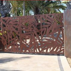 Sanctum design gallery showcases fresh ideas in feature screens & gates Front Gate Design, Fence Screening, Front Gates, Outdoor Furniture, Outdoor Decor, Backyard Landscaping, Wrought Iron, Screens, Indoor