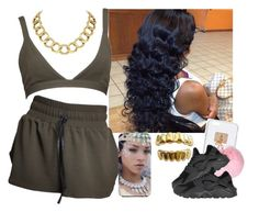 """""""..."""" by saucinonyou999 ❤ liked on Polyvore featuring Ashlyn'd, NIKE and House of Harlow 1960"""