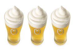 Keepin' it cool, the beer that is! Frozen beer by Kirin.