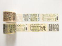 Vintage Fare Ticket Washi Tape 7m