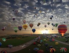 Largest hot-air balloon gathering in the world, Chambley, France***