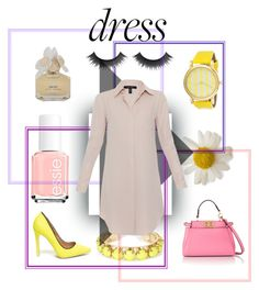 """""""Shirt Dress"""" by marilynn96 ❤ liked on Polyvore featuring Towne & Reese, Fendi, Marc by Marc Jacobs, Essie and Xander"""