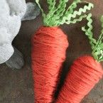 Yarn wrapped carrots