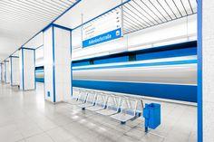 Fotografias que registram os interiores coloridos de estações de metrô da Europa,© Chris Forsyth