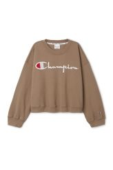 <p>The Jenner Cropped Crewneck by Champion is a relaxed sweatshirt with the iconic embroidered brand logo. In an oversized fit with dropped shoulders, it has a banded crewneck, ribbed finishes and a logo patch on one sleeve. Exclusive Weekday collaboration design.<br /><br />- Size XSmall/Small measures 126 cm in chest circumference and 52,50 cm in length. The sleeve length is 52,50 cm.</p>