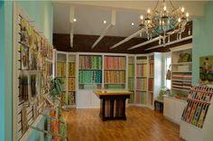 The most beautiful quilt shop interior ever - Karen Gray Design in North Carolina.