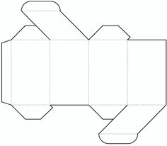 Die cutting image of Cylinder box templates no.04