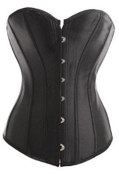 0854138ce31 This plain black corset top can be dressed up or dressed down as much