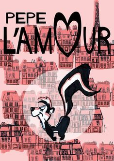 (comment from a previous pinner): Loved Pepe Le Pew cartoons. :) All of my French and most of what I know about Love came from Pepe. Cartoon Tv, Vintage Cartoon, Cartoon Characters, Looney Tunes Cartoons, 90s Cartoons, Paris, Comic Art, Comic Books, Nostalgia