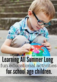Amazing learning activities for kids that you can do all summer long.  Perfect for school aged kids.