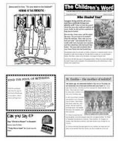 Childrens Word- Free downloadable Orthodox children's weekly bulletin