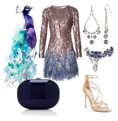 """""""peacock"""" by kaitis ❤ liked on Polyvore featuring Epson, Matthew Williamson, Chan Luu, Steve Madden and Jeffrey Levinson"""