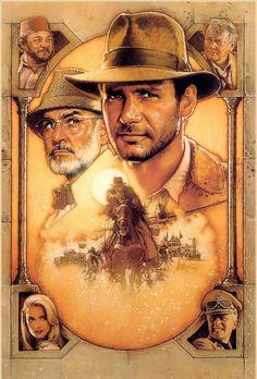 Before Photoshop there was...Drew Struzan - Indiana Jones and the Last Crusade (1989) - My personal Favorite Struzan piece.