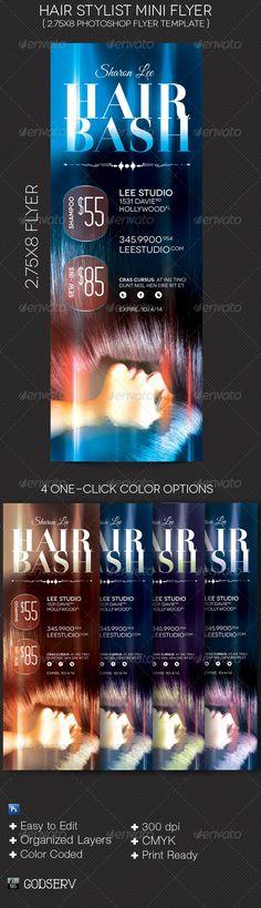 Hair Stylist Mini Flyer Template - $6.00
