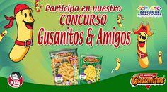 Síguenos y participa en nuestro concurso Gusanitos & Amigos