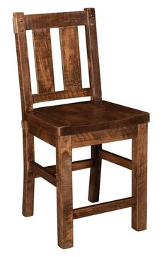 Amish Houston Stationary Bar Stool Thick, rich, rugged and comfy. The Houston brings home solid wood richness at the kitchen counter or bar.