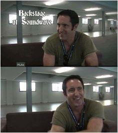 Trent Reznor NIN i like his smile