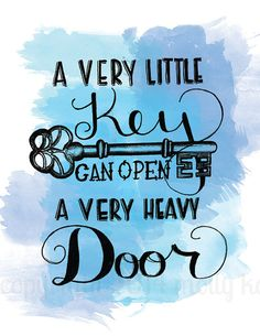 Items similar to Hand Letter Poster Print Watercolor Quote A Very Little Key Can Open A Very Heavy Door Green Watercolor Key Illustration on Etsy  sc 1 st  Pinterest & opening-a-new-door-quote-coeurblonde | inspirational quotes ... pezcame.com