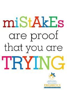 Mistakes are proof that you are Trying #presidencyindo #kids #primary #preprimary