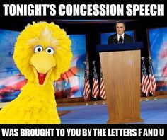 Funniest Political Memes Ever: Big Bird on Mitt Romney's Concession