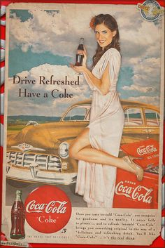 A new airbrushed style pinup Coca-Cola advertisement featuring Crystal! This is by far my favorite Coca Cola ad recreation to date, loosely based on a late 1949 Coca Cola and Ford advertisement. The colors, the way the composition turned out, and how the 'airbrushed technique' came together really makes this stand out as the best Coca Cola retro ad yet!