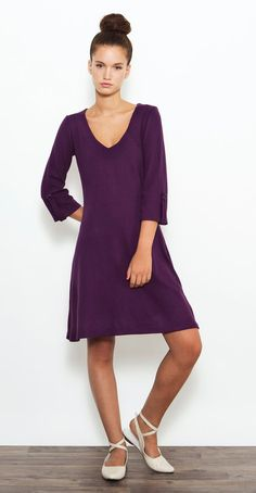 Casual Purple Dress  Fall Dress  Loose Dress  by PigPigCowDesigns