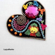 LujzaMarko / Gypsy heart brošňa