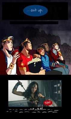 Bad Ass Batkids! WATCHING THE WW MOVIE!!!!! YYAAAAASSSS!!!!!