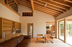 House of Nagahama by Takashi Okuno frames five courtyard gardens