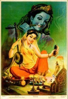 Mirabai sings to Krishna