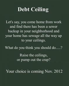 The truth about the debt ceiling debate.  Your choice is coming November 2012!