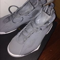 0d4a015955c9 Shop Women s Jordan Gray size Athletic Shoes at a discounted price at  Poshmark.