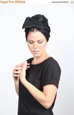 on sale turban bow hat, black turban hat, chemo hat, women's turban, turban with bow, fashion turban, hair turban, turban headwrap, turban h