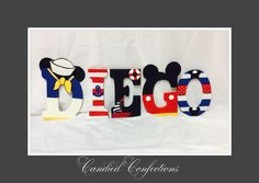 Sailor Mickey Mouse letters  Www.etsy.com/candied confections
