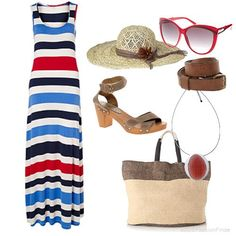 The striped beach outfit | Womens Outfit | ASOS Fashion Finder
