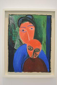 Mère et son enfant - Huile sur toile - Paris été 1907 Pablo Picasso, Mother And Child, Paris, Primitive, Modern Art, Sculpture, Children, Painting, Instagram