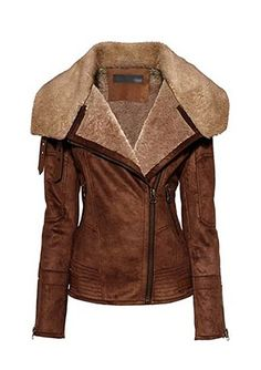 women's aviator jacket | ... Fawn Flight Bomber Jacket - Leather4sure Aviator & Flight Jackets