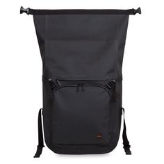 """Hamilton Men's 15"""" Roll Top Backpack - Black 