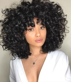 Beautiful curly wigs for black women lace front wigs human hair wigs. Click picture to see more Beautiful curly wigs for black women lace front wigs human hair wigs. Click picture to see Curly Hair Styles, Curly Hair With Bangs, Wigs With Bangs, Curly Hair Cuts, Curly Bob Hairstyles, Hairstyles With Bangs, Big Hair, Natural Hair Styles, Gorgeous Hairstyles
