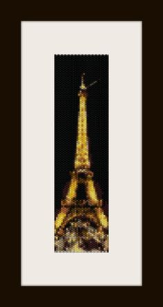 PDF torre eiffel pattern bracelet in peyote stitch by monjka, $4.60