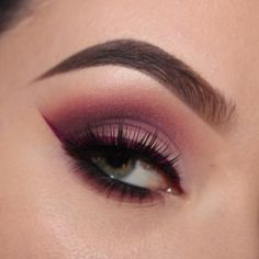 """Loving the burgundy tones & red line by @brandyperezmua in our #KnockoutLashes! ❤️  Repost:  @anastasiabeverlyhills """"baby cakes"""", """"buon fresco"""" & """"dusty rose"""", """"ash brown"""" dipbrow  @maccosmetics """"vibrant grape"""" & """"deep damson"""" shadows  @houseoflashes """"knockout"""" lashes  @doseofcolors """"berry me 2"""" liquid lip  @lorelei_beauty brushes  #houseoflashes #lashes #lashgamestrong #lashfocus #motd #makeuplooks"""