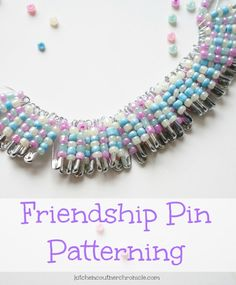 Friendship Pin Craft Patterning - A fun way for kids and tweens to combine learning with creativity - design patterns and develop fine motor skills with friendship pin patterning. Fun diy craft for kids.